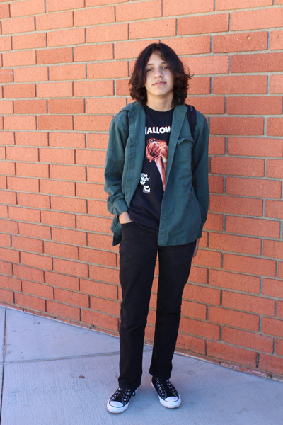 Anthony Argueta, sophomore and skateboarder.