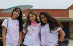 Seniors, Brianna Lopez, Andrea Reynosa & Evelyn Carranza  (Class Colors Day)