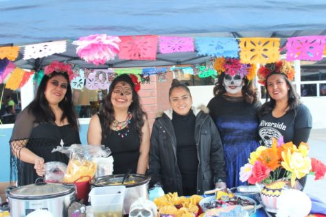 PTO held their Day of the Dead booth at the Interact Spooktacular, giving out nachos and candy for children.
